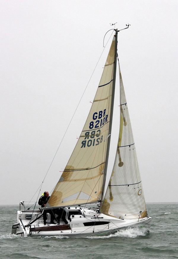 Elan 210 boat test full rig