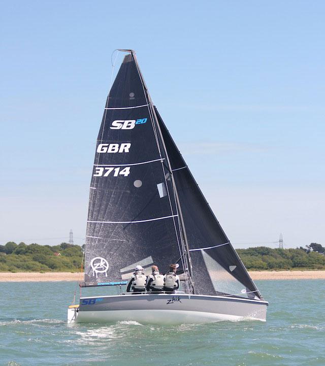 SB20 sailing upwind