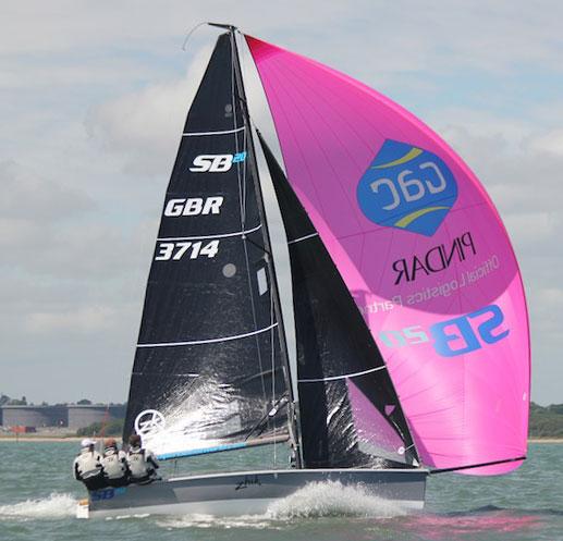 SB20 sailing downwind