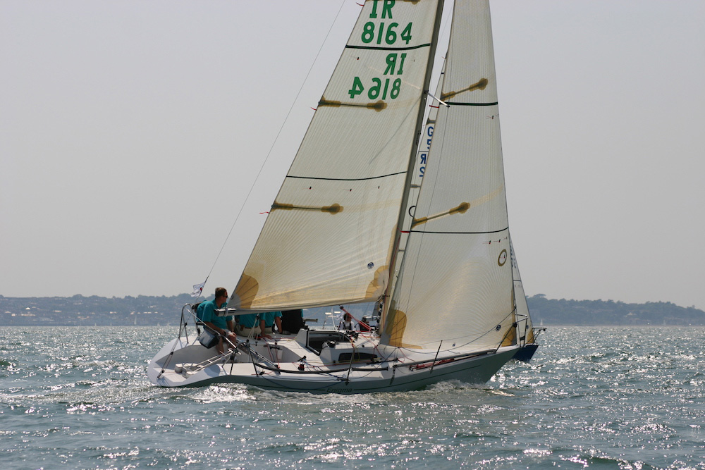 Ed Dubois' Enigma racing at the 2006 Quarter Ton Cup. Photo: Fiona Brown/Quarter Ton Class.