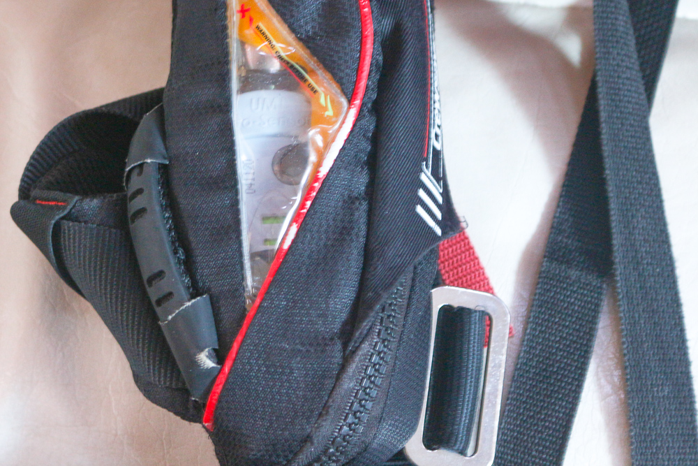 the gas on a lifejacket needs replacing regularly