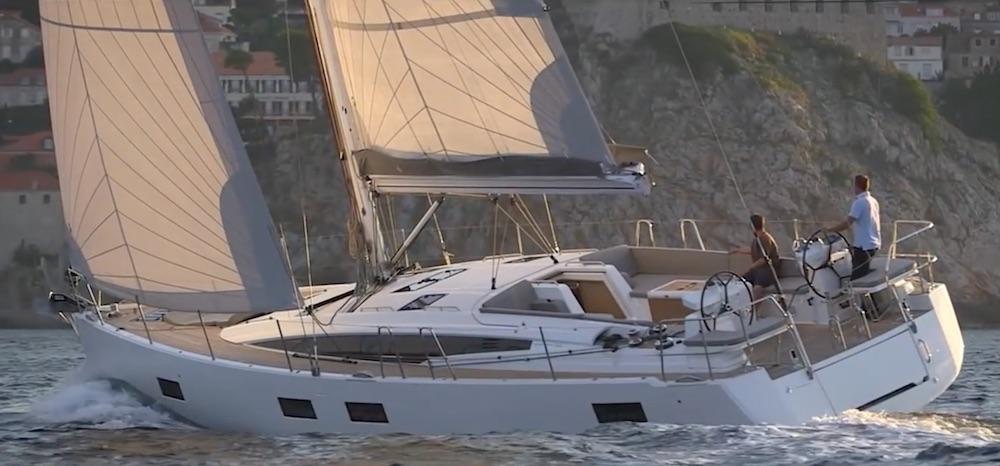 Jeanneau 54 under sail