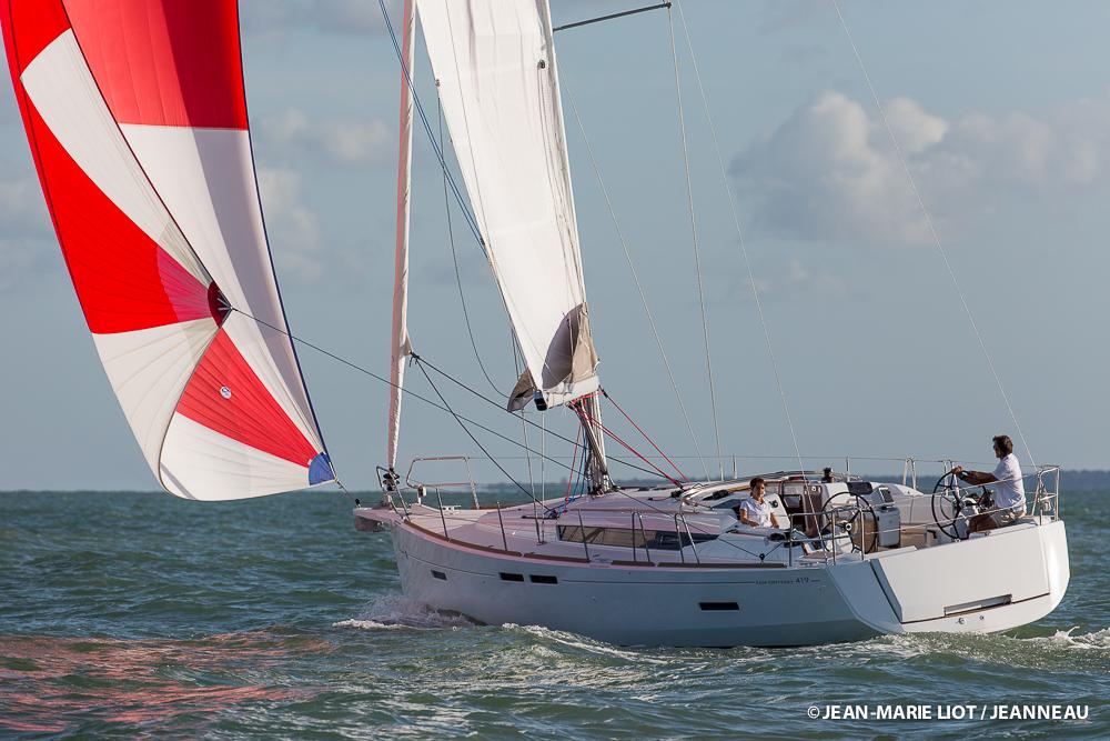 The new Jeanneau Sun Odyssey 419. Photo Jean Marie Liot/Jeanneau.