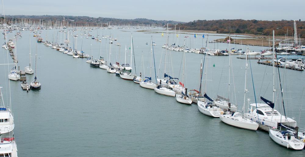 mid-river pontoons