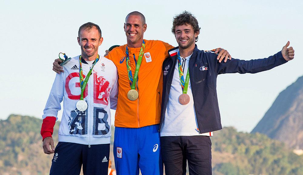 Nick Dempsey silver medal 2016 Rio Olympics. Photo David Branigan
