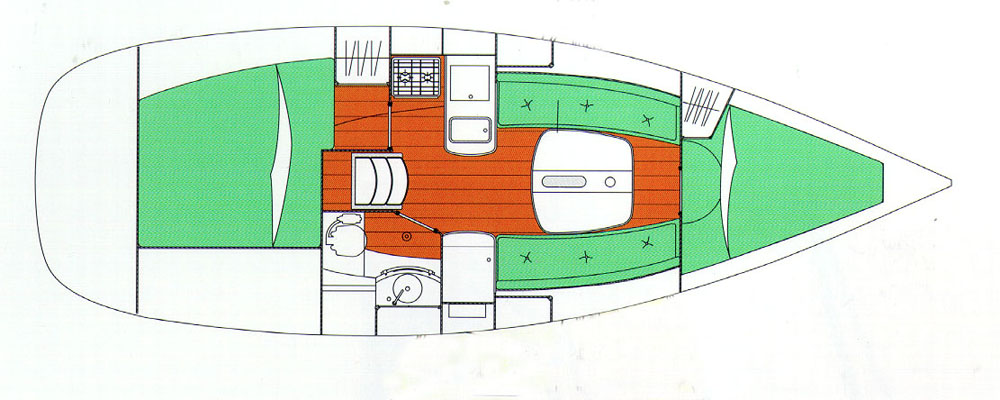 Layout view: Beneteau Oceanis 323 review.