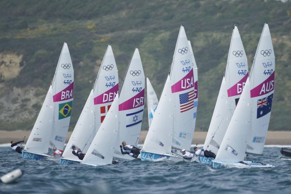 Watching Olympic Sailing: 470 class start