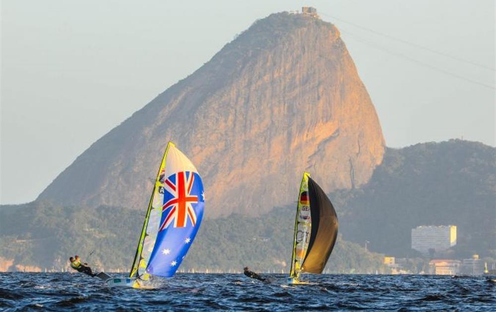 Olympic sailing on Rio's Guanabara Bay