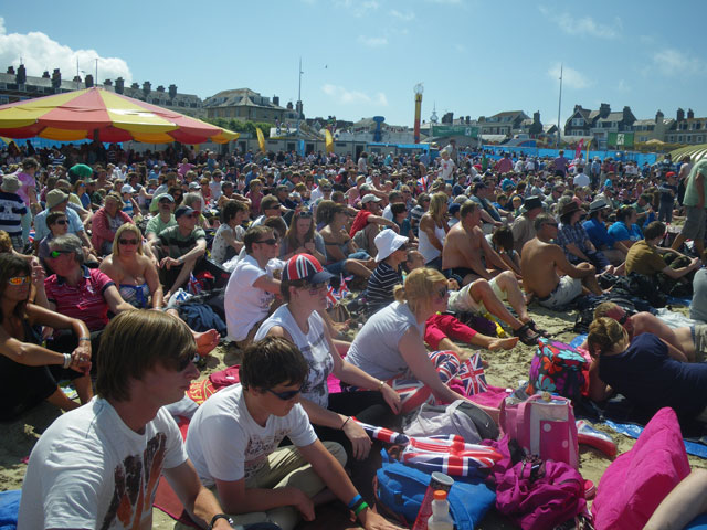 Weymouth Olympic beach live site