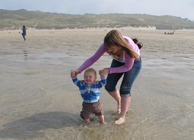 Having fun on the beach. Photo Gael Pawson.