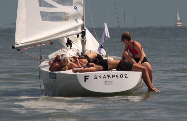 Annabel Vose and team: 2014 women's student team racing world championship