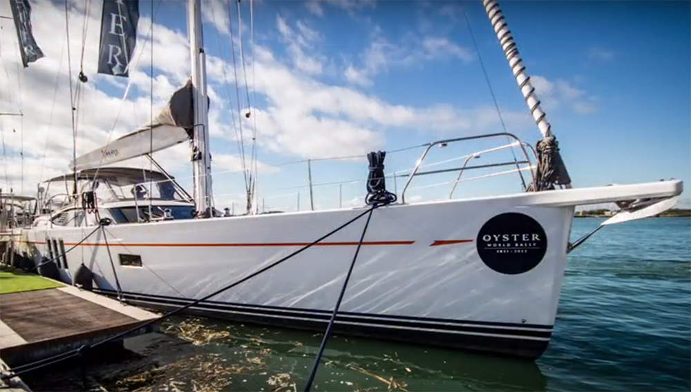 Oyster 745 under sail