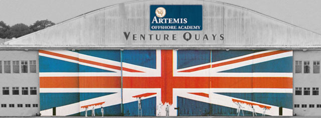 Artemis Offshore Academy re-paints the largest Union Jack in the world