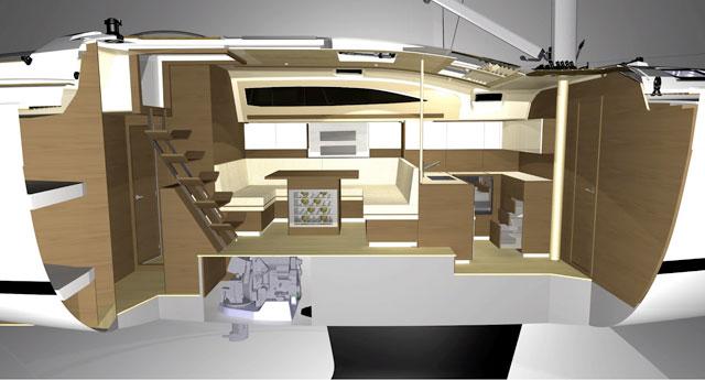 Elan 394 below decks