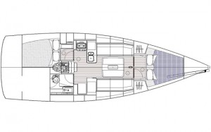 Dufour 36 layout