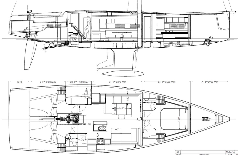 Hanse 588 layout options