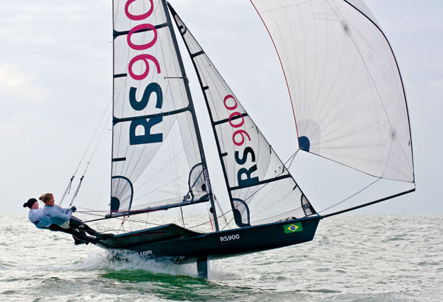 RS900 downwind