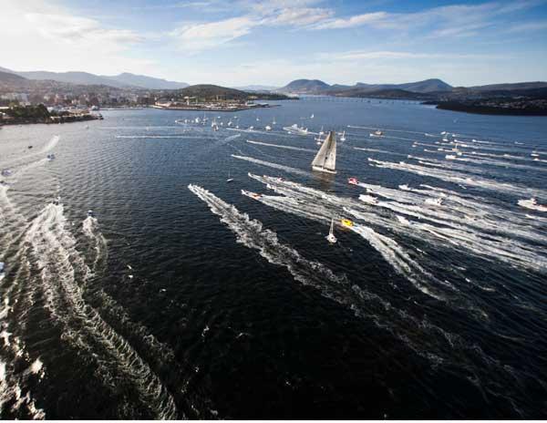 Sydney Hobart finish line spectacle