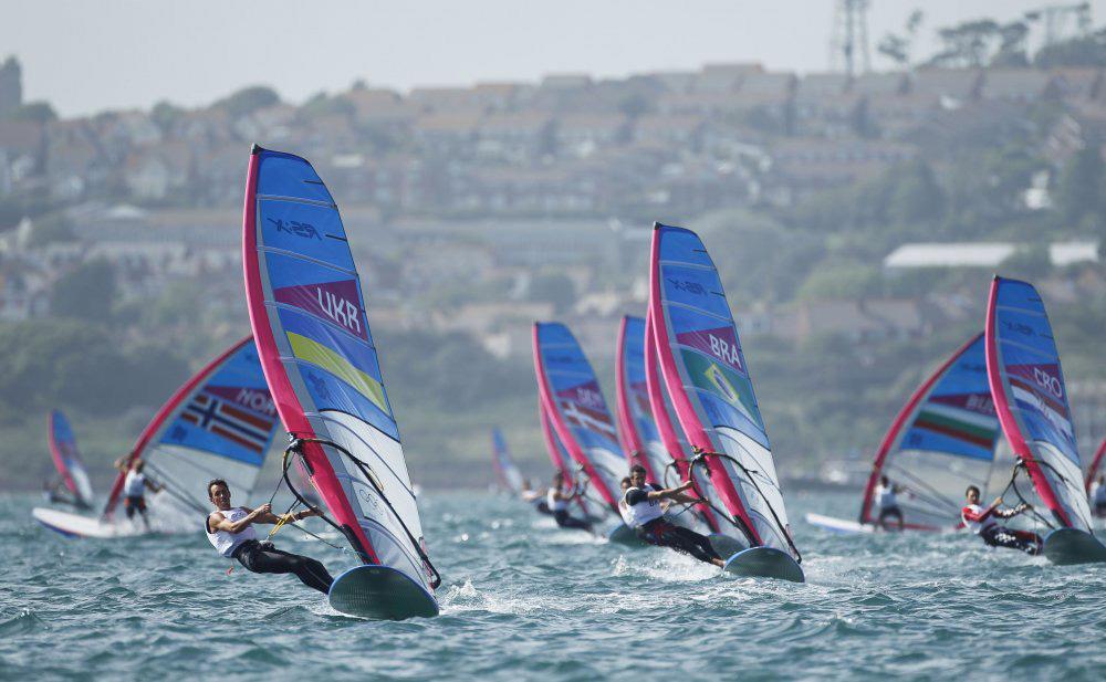 Olympic sailing: windsurfing class.