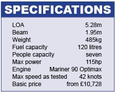 Salcombe Flyer 530Sport Specifications