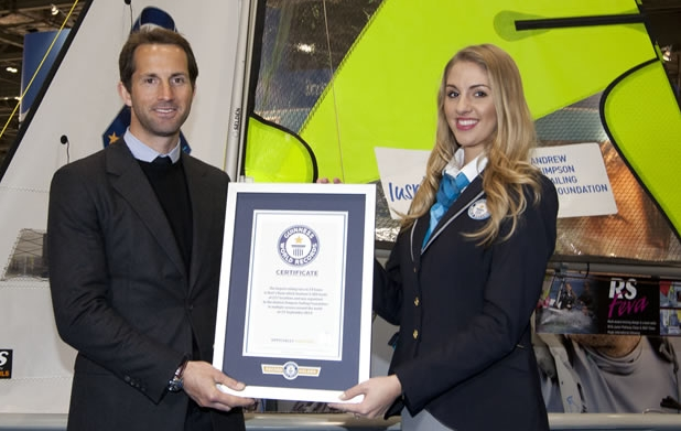 Sir Ben Ainslie accepts the Guinness World Record for Bart's Bash