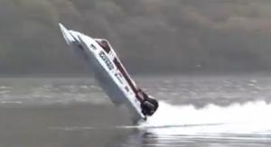 Amazing 134mph powerboat backflip