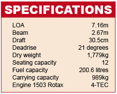 Sea-Doo Wake Specifications