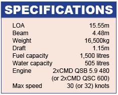 Sealine F48 Specifications