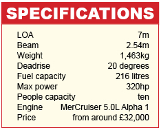 Stingray 225SX Specifications