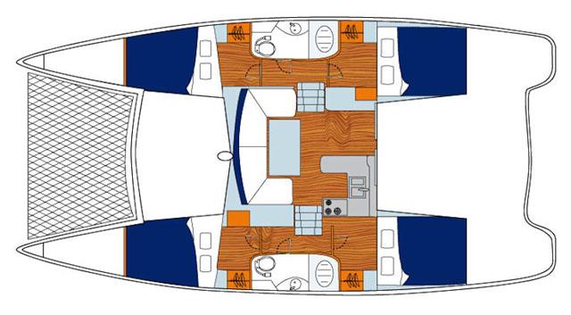 Sunsail 384 – comfy catamarans