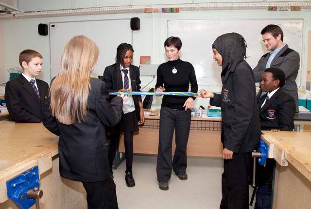 Ellen MacArthur takes part in Teach First with Beckton pupils