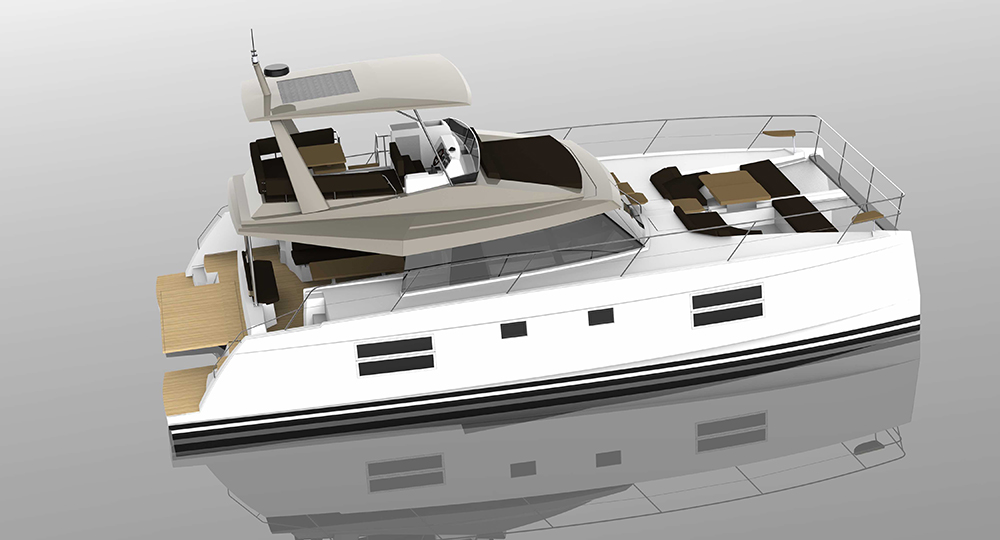 The new Nautitech 47 Power will hit the water at the start of 2018.