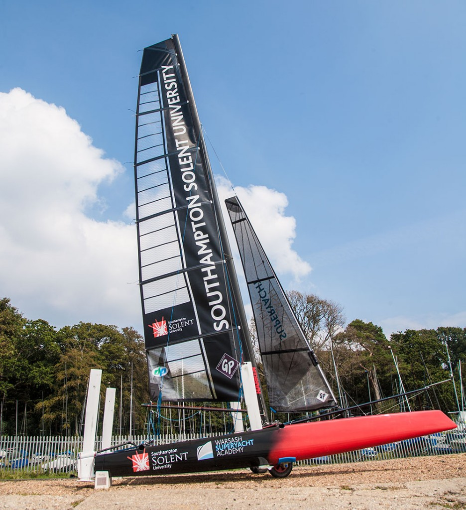 Solent Whisper foiling cat: easily launched