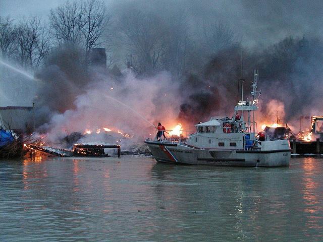 Fire prevention at sea