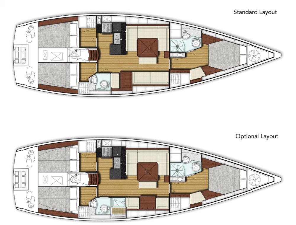 X-Yachts Xc 45 layout options