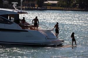 Fairline Targa 62 swimming platform