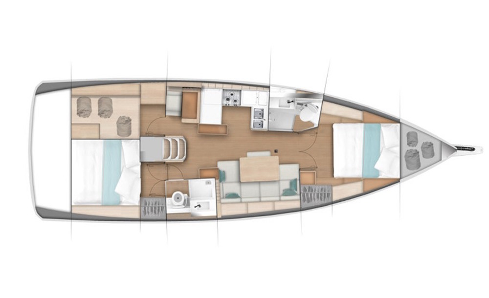 Sun Odyssey 440 layout options