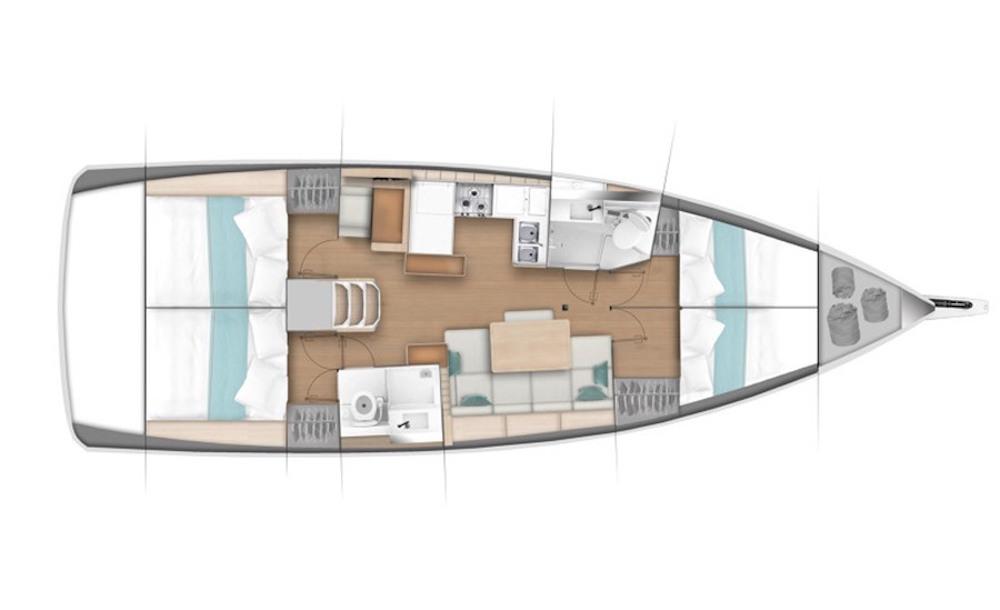 Sun Odyssey 440 layout