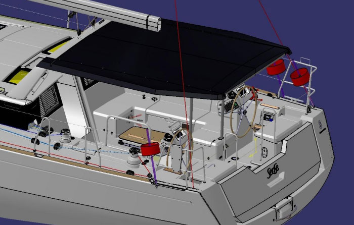 Beneteau Sense cockpit view