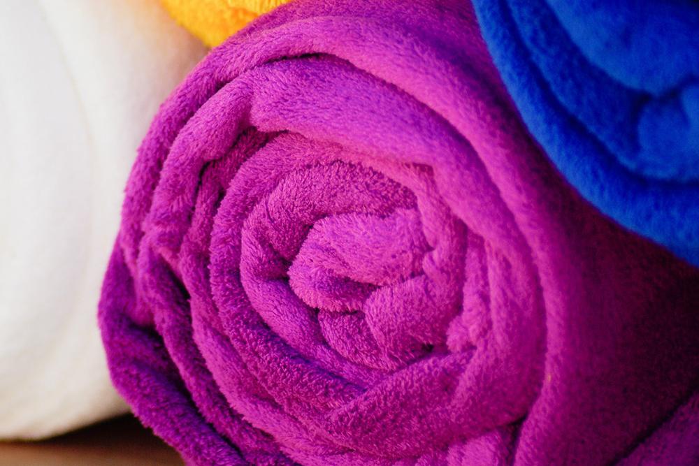 Wet towel under cooler