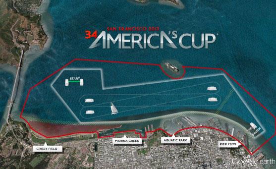America's Cup race area revealed