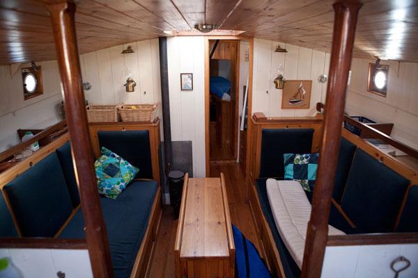 Below decks on the Wylo.