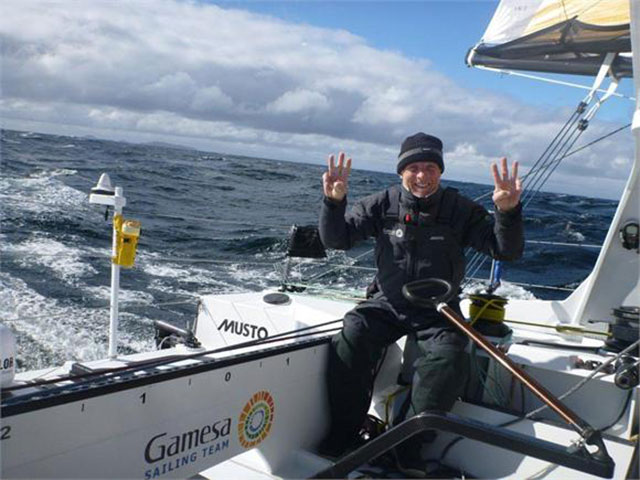 Mike Golding Rounds Cape Horn for the sixth time