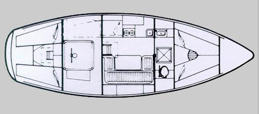 Moody 33 mark 1 layout