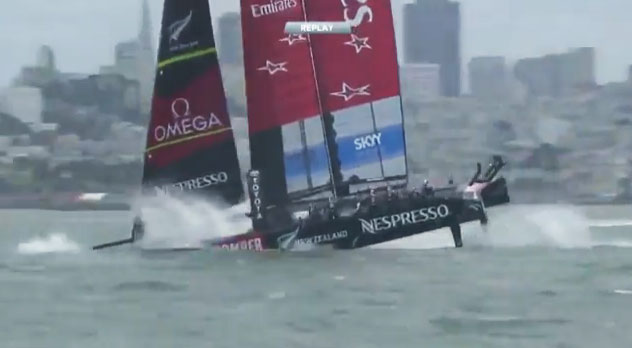 America's Cup thrills and spills
