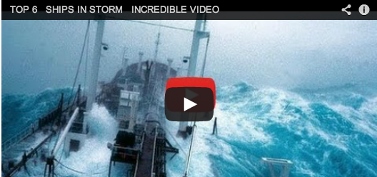 Stormy seas: dramatic ocean waves video