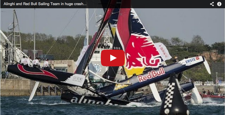 High-speed Extreme Sailing Series collision