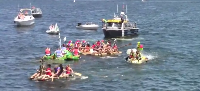 Summer fun: Silly Boat Race footage
