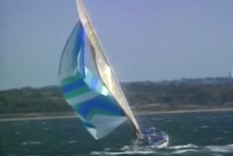 How to trash a spinnaker!