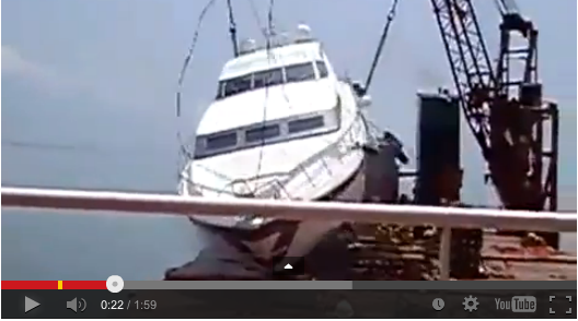 When boat lifts go wrong